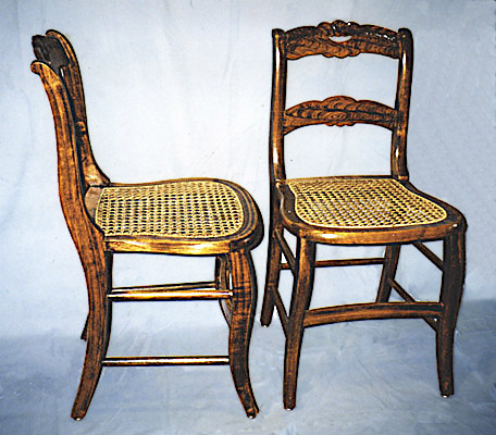 Antique Roseback Chairs